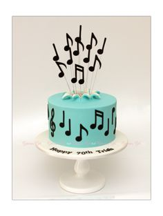 Music Birthday Cakes, Music Themed Cakes, Music Cakes, Birthday Cakes For Men, Teen Girl Cakes, Music Note Cake, Cake Designs For Kids, Spring Cake, Beautiful Birthday Cakes
