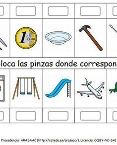 Coloca_las_pinzas_donde_corresponda_pictogramas_ARASAAC_4 Toothbrush Holder, Teaching, Montessori, Games, Activities, Special Education, Conversation, Asperger, Activities For Kids