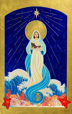 Our Lady Star of the Sea _ Stella Maris Catholic Art, Religious Art, Stella Maris, Jesus Pictures, Religious Pictures, Christian Artwork, Lady Of Fatima, 17th Century Art, Old Cemeteries