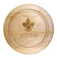 Maple 12 inch Round Personalized Cutting Board