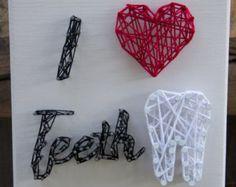 Amo i denti placca String Art regalo dentale denti di TeethLife