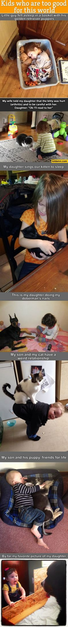 Kids and their furry friends :)