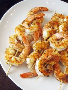 a hint of honey: Spice-Rubbed Grilled Shrimp