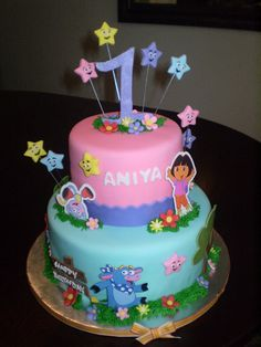 check the name out on that cake that is crazy!! i just spell it aniyah! More Dora.