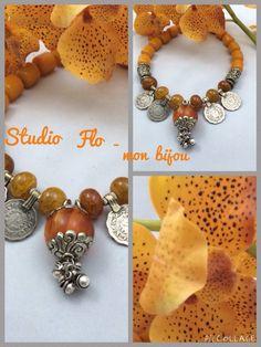 "Modern creation for very old Amber stones designed by ""Studio Flo- mon bijou "" Facebook.com/studioflomonbijou"