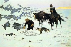 The Frozen Sheepherder (Frederic Remington - 1900)