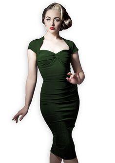 Foxy Lady 50s Wiggle Dress - vintage green