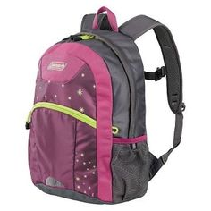 f060ef41699 Coleman Youth 16 Hiking Backpack 20L PinkGrey with Stars    To view further  for this