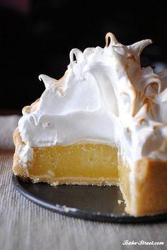 Pastel de lima limón con merengue - Bake-Street.com