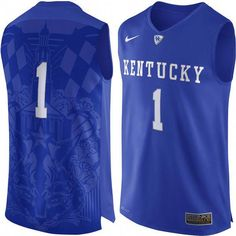 7480723f2 Men s Nike  1 Royal Kentucky Wildcats Authentic Basketball Jersey