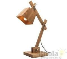 Image result for desk lamps with timber base