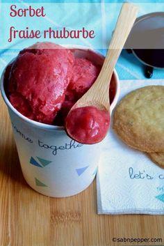 Sorbet fraises rhubarbe et vanille : une recette simple et rapide