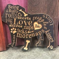 English Bulldog Love Is by FrenchieGoods on Etsy, $52.00