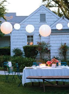 splendid actually: backyard party lights