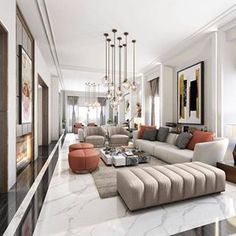 For more luxury modern living room interior design inspirations check our website Living Room Modern, Home Living Room, Interior Design Living Room, Small Living, Luxury Living Rooms, Contemporary Living Room Decor Ideas, Living Room Apartment, Living Room Styles, Modern Lamps