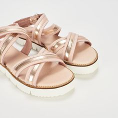 Ref: Fara 01 - Rosa-Metal Metal, Shoes, Fashion, Shoes Sandals, Slippers, Latest Trends, Totes, Accessories, Moda