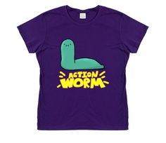 Action Worm (with text) [Women's Fit]