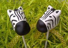 Zebra cake pops #animals #zebra #cakepops