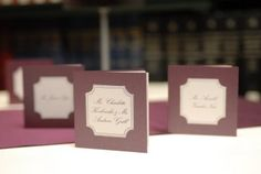 I have yet to see more beautiful escort cards.  Each escort card was actually a book.  The front page had the name of the couple and the back cover was the number of the table.