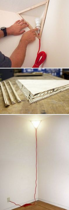 Check out this easy idea on how to make a #DIY corner lamp for living room #homedecor #budget #project @istandarddesign