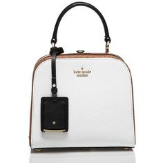 Kate Spade Pembrey Place Violina ($478) ❤ liked on Polyvore featuring bags, handbags, satchels, kate spade bags, kate spade, handle bag, leather handle bag and leather bags