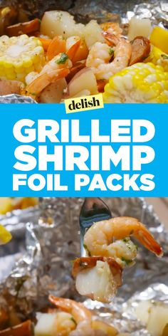 Shrimp, Broccoli and Rice Foil PacksDelish