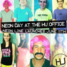 Yesterday, in honor of our NEON Summer Fighting Hunger Bullet Necklace line, the entire office dressed in neon. You can tell we're excited about our June 11th Launch!!!!