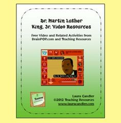 Dr. Martin Luther King, Jr. Video Resources - Great free resource packet to go along with the BrainPOP video!