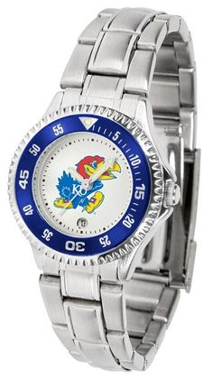 Kansas Jayhawks Womens Competitor Steel Watch
