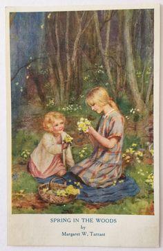 Three Vintage Margaret Tarrant Medici Society Postcards   eBay
