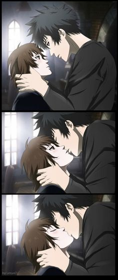 Psycho-pass 2: Kogami x Akane: A kiss by Lesya7 on deviantART