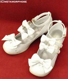 Triple Ribbon Mary Jane Shoes (Off White)