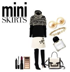 """""""Mini Skirt"""" by marionmeyer on Polyvore featuring Mode, Marc Jacobs, Jimmy Choo, Kate Spade, Chanel, Smashbox, Urban Decay und MINISKIRT"""