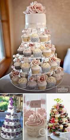 36 Totally Unique Wedding Cupcake Ideas ❤ Beautiful on the outside and delicious in the middle, wedding cupcakes continue to be a trend for all wedding themes. See more: http://www.weddingforward.com/unique-wedding-cupcake-ideas/ #wedding #cupcake #ideas