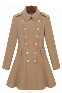Double-breasted wool coat_Coats_CLOTHING_Voguec Shop