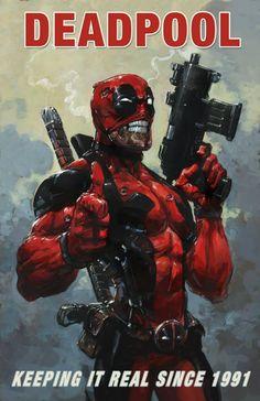 """xombiedirge: """"Deadpool by Clayton Crain """" Marvel Comics, Arte Dc Comics, Bd Comics, Marvel Vs, Marvel Heroes, Comic Book Characters, Marvel Characters, Comic Character, Comic Books Art"""