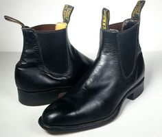 R.M. WILLIAMS BOOTS Mens 8 Black Leather Ankle Boots *Classic* Austrialia Sz 7F #RMWilliams #AnkleBoots