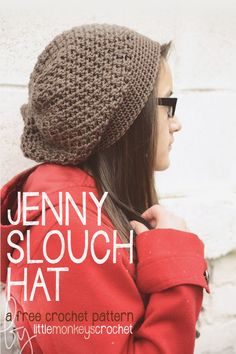 "I love slouchy hats! In fact in my pre-crochet days, when I was designing my friend's crochet web site a few years back (you can read more about that here), she paid me partly in crochet goods... and my first request was, ""Can you make me a slouchy hat?"" I think they are so fun and th"