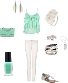 """""""minty blue is adorable3"""" by maddiewall on Polyvore"""
