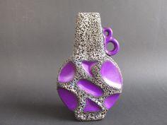 Vintage Vase von Roth, violett, Modell 313, 70er, Fat Lava von ShabbRockRepublic auf Etsy