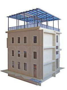 Modellino Ex capannoni Incet. Modellino per ipotesi ristrutturazione ex capannoni Incet ad uso commerciale e residenziale.