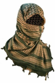 Shemagh Arab scarf in Army Military Colours with AK47 Gun Pattern Black /& Grey