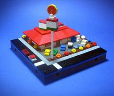 Awesome LEGO microscale, love the cars (only two pieces each!)