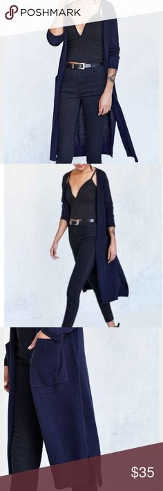 NWT Urban Outfitters Mia Maxi Cardigan (S) never worn. long cardigan with small slits at the bottom sides. with tags xo Urban Outfitters Sweaters Cardigans