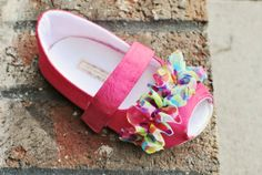 Festive Peep-toe Mary Janes! by Little Posh Bebe Baby Shoes