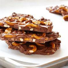 Chocolate Hazelnut Pretzel Bark