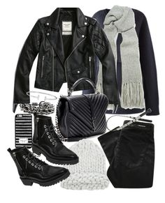 """""""Untitled #20669"""" by florencia95 ❤ liked on Polyvore featuring Burberry, Acne Studios, Abercrombie & Fitch, Yves Saint Laurent, MICHAEL Michael Kors, Denham, Kendall + Kylie and H&M"""