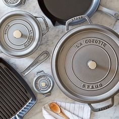 All gray Staub in the kitchen, it's almost too much prettiness to handle!