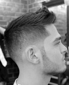 Fashionable Men's Haircuts :   Taper Fade Faux Hawk – best hairstyles for men    -Read More –   - #Haircuts