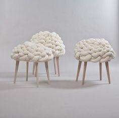 Cloud Stool Design by Joon (furniture,architecture,interiors,home decor,interior design,art,modern,cool,ideas,creative)